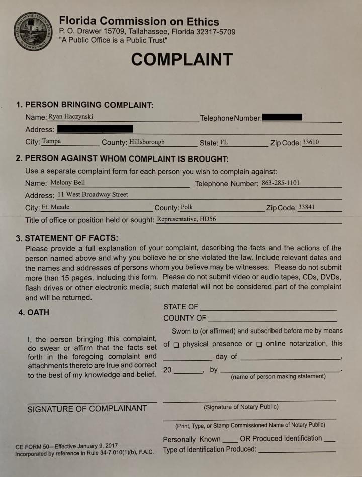 Ethics Complaint